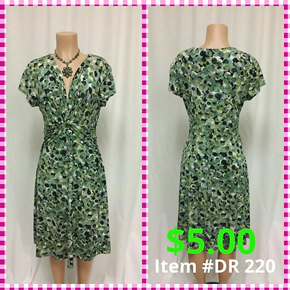 Item # DR220 Green Print Dress