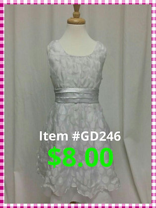 Item # GD246 White Dot Dress