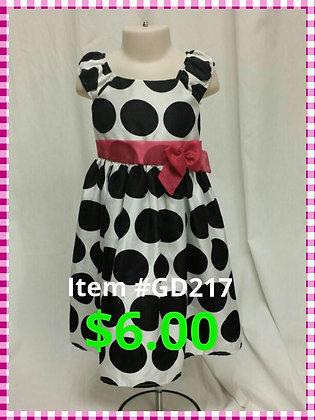 Item # GD217 Black/White Poka Dot Dress