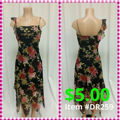 Item # DR259 Black Flower Dress