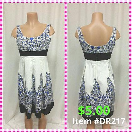 Item # DR217 Blue Print Dress