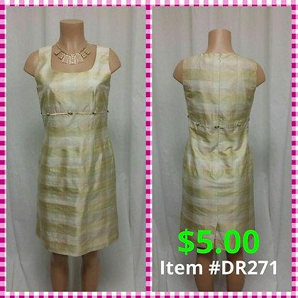 Item # DR271 Pink/Cream Dress
