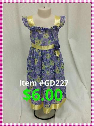Item # GD227 Purple Flower Dress