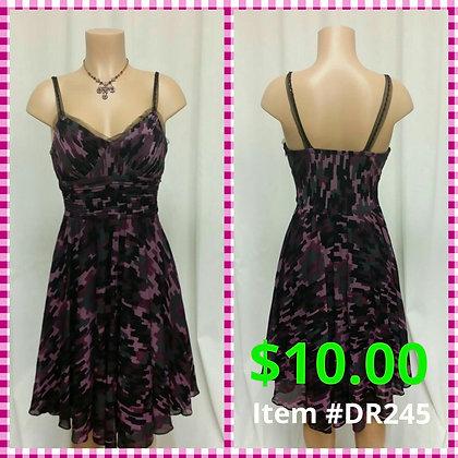 Item # DR245 Purple/Black Dress