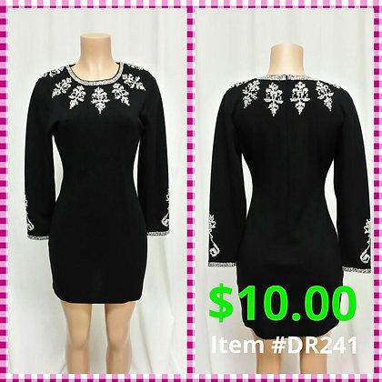 Item # DR241 Black Sweater Dress