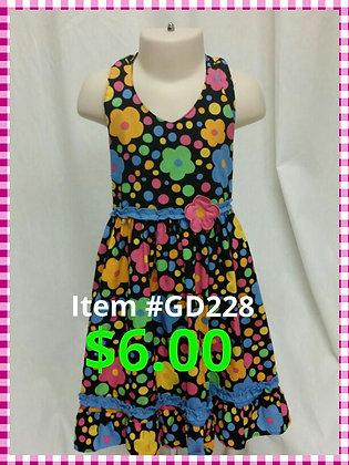 Item # GD228 Black Flower Dress