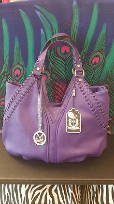 Purple with Gold Handbag