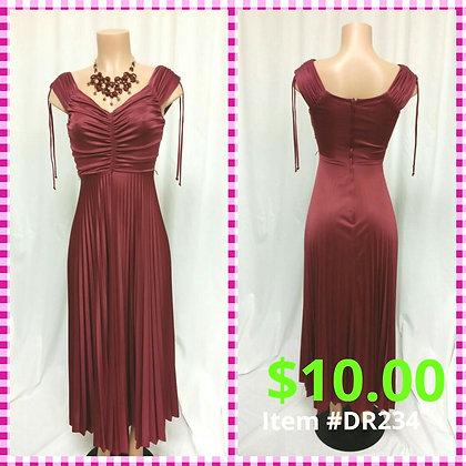 Item # DR234  Vintage Maroon Long Dress