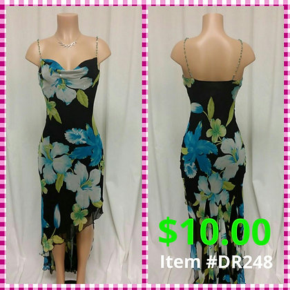 Item # DR248 Black Flower Dress