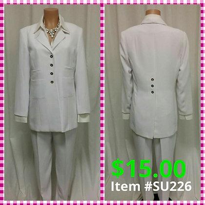 Item # DR226 White Suit