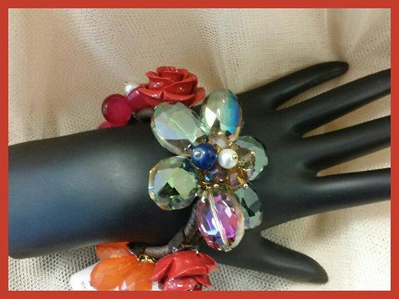 Glass Blown Flower Bracelet