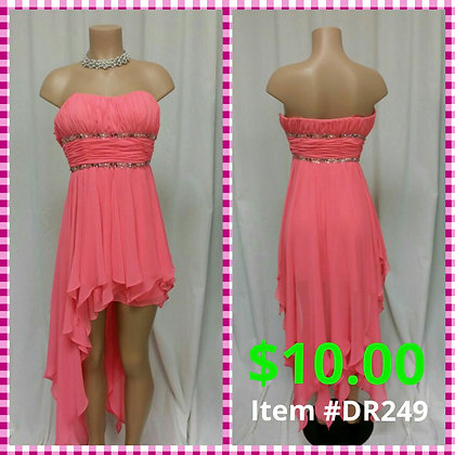 Item # DR249 Peach Dress