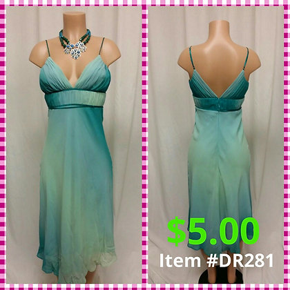 Item # DR281 Green Dress