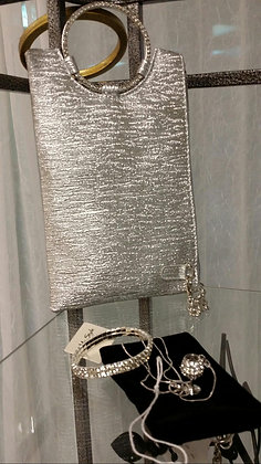 Silver Three Way Clutch Bag