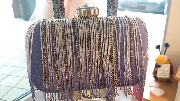 Purple with Chain Small Clutch
