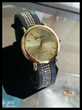 Geneva Leather Wrap Watch