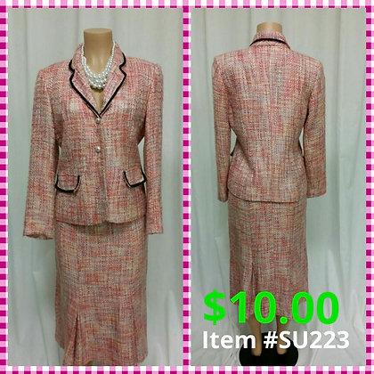Item # DR223 Pink Tweed Suit