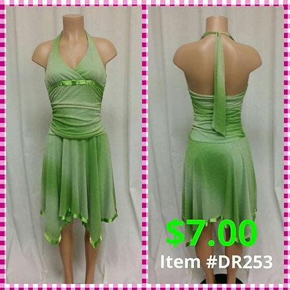Item # DR253 Lime Dress
