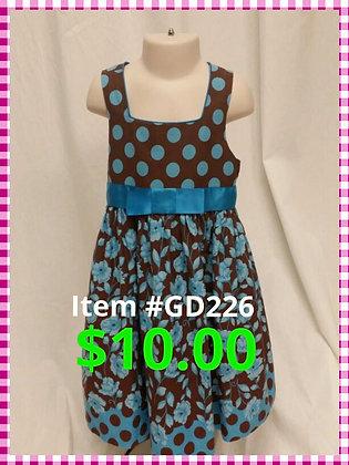 Item # GD226 Brown/Turq Dress