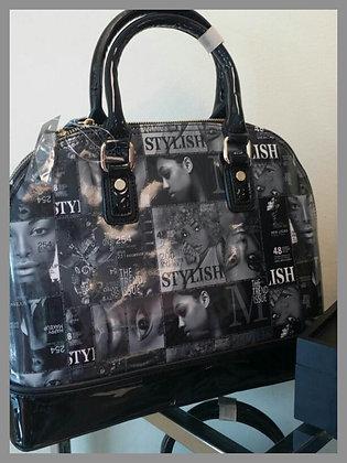 Black & White Magazine Collage Handbag