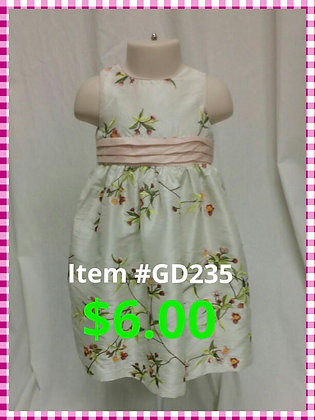 Item # GD235 Pink/White Dress