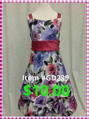 Item # GD239 Purple Flower Dress