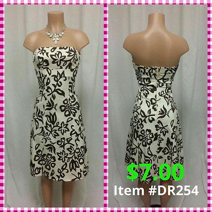 Item # DR254 Brown/Tan Dress
