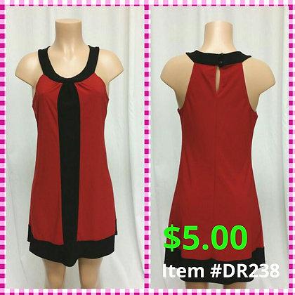 Item # DR238 Black/Red Dress