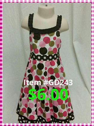Item # GD243 Brown Dot Dress