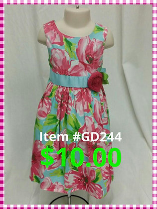 Item # GD244 Pink Flower Dress