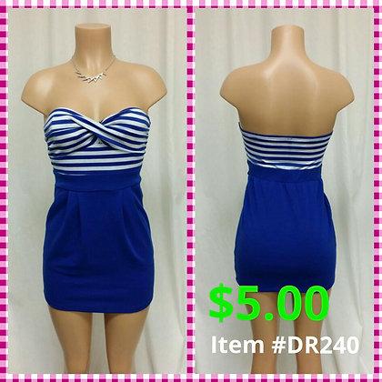 Item # DR240 Blue/White Dress