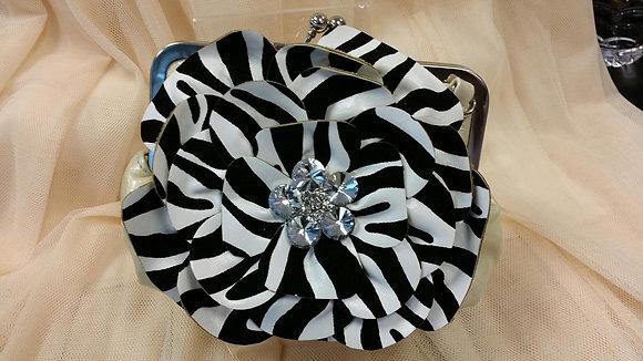 Zebra Print Clutch Bag