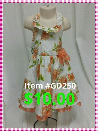 Item # GD250  Orange Flower Dress
