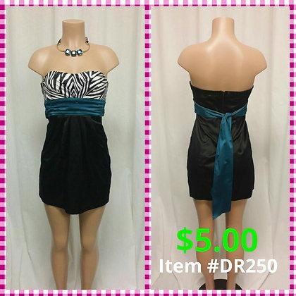 Item # DR250 Turq/Black Dress