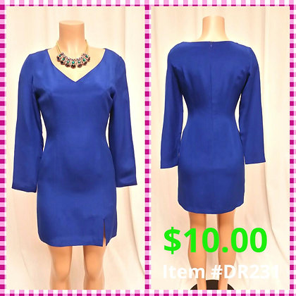 Item # DR231 Royal Blue Dress