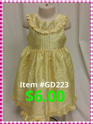 Item # GD223 Yellow Dress