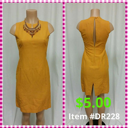 Item # DR228 Orange Linen Dress