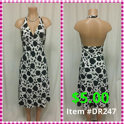 Item # DR247 Black/White Dress