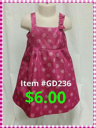 Item # GD236 Pink Poka Dot Dress