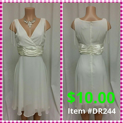 Item # DR244 Cream Dress