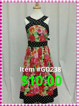 Item # GD238 Black Flower Dress
