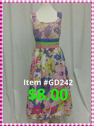 Item # GD242 Pink Flower Dress