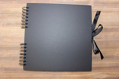 Black photobooth guestbook album