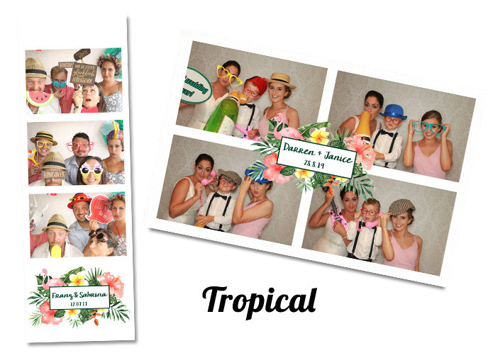 Wedding photobooth Template Tropical