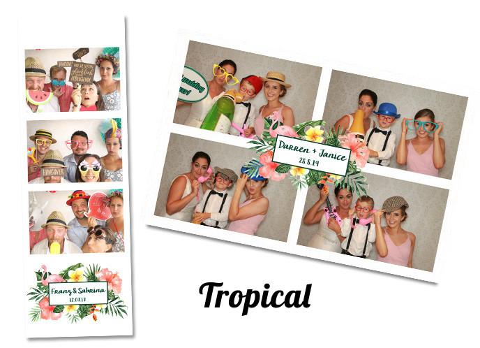 Wedding photobooth Template Tropical