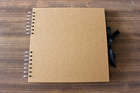 Brown photobooth guestbook album