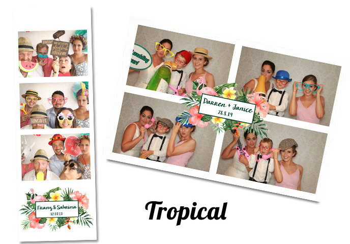 Photobooth template Tropical