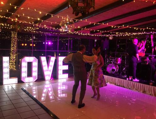 LOVE lights for weddings