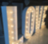 Illuminated Letters for wedding Belfast