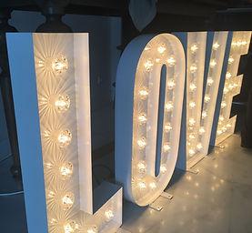 Illuminated Letters for wedding Belfast